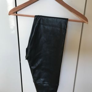 Leather stretchy pants